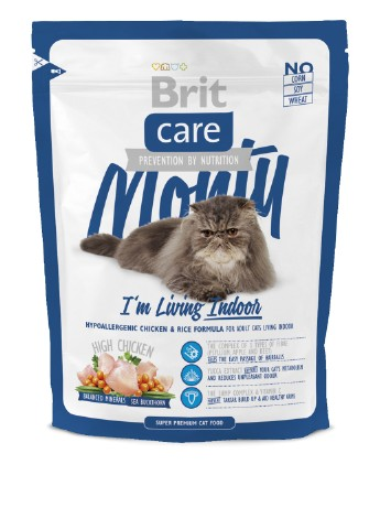 Корм Brit Care Cat Monty I am Living Indoor, 0,4 кг Brit